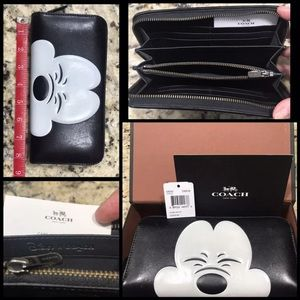 Coach Disney leather Mickey wallet